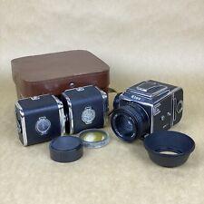 Kiev-88 Vintage 6x6 Medium Format Film Camera W/ 80mm 2.8, Film Backs & Case
