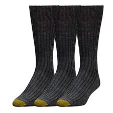 Gold Toe Men's Windsor Wool Dress Crew Socks, 4 Colors, 3 Pairs