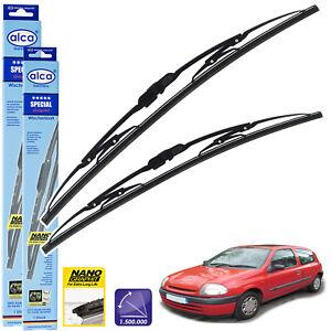 Clio Estate 2008-2012 Set of 3 Windscreen Wiper Blades alca Germany Super Flat Front Rear 241612 ASF2416B12ARC