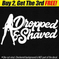 DROPPED & SHAVED Decal Sticker JDM Euro VW low life slammed stance panty dropper