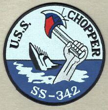 "USN Navy Patch:  Ship - USS Chopper SS-342 - 5"""