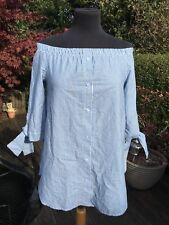 DESIGNER STRIPPED BARDOT SHIRT - NEW WITH TAGS