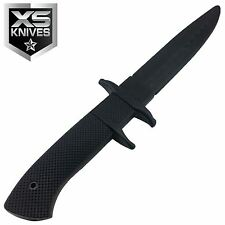 """11.5"""" Black Classic Rubber Training Practice Fake Knife"""