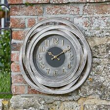 Wall Clock 50cm Weatherproof for Indoor Outdoor Decoration Garden Patio Decor
