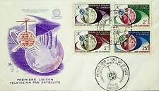 FRENCH CAMEROON 1963 1st TRANSATLANTIC SATELLITE TELEVISION LINK SPACE 4v ON FDC