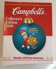 Campbells Soup 2000 CAMPBELL KIDS Medallion 100th Year Anniversary Ball Ornament