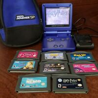 Nintendo Gameboy Advance SP Bundle-AGS-001, Case, Charger, (8) Games