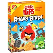 ANGRY BIRDS Cheese Nips Crackers Box Nabisco Flat video game movie tie in