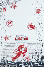 HOW TO EAT LOBSTER - Kay Dee Designs -  Gift Set of 2 Cotton Tea Towels  NEW