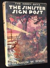 Franklin W. Dixon / The Sinister Sign Post The Hardy Boys #15 First Edition 1936