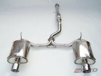INVIDIA Q300 110mm Dual Rolled Stainless Tip Catback Exhaust S2000 00-09 AP1 AP2