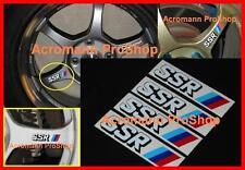 """4x 2.5"""" 6.35cm SSR alloy side spoke wheel Decal Sticker Type C F JDM RS SP1 MS1"""