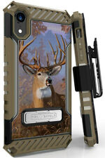 Big Buck Deer Camo Outdoor Case Cover Belt Clip Strap for Apple iPhone XR 6.1""