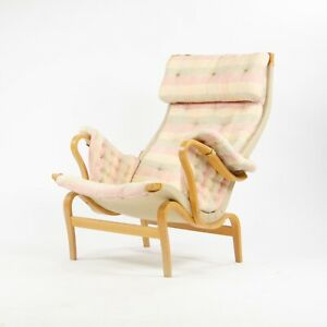 Vintage Original Bruno Mathsson Pernilla  Fabric Lounge Chair by Dux Sweden
