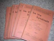 1912-14.la vie syndicale 15 N°s.Action populaire.catholique.syndicalisme isère