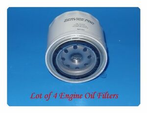 4 Engine Oil Filter Service Pro M193 Fits: Chevrolet Chrysler Dodge GMC Isuzu &