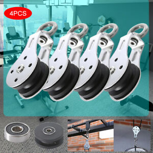 300KG Bearing Lifting Pulley Silent Hanging Wheel Fitness Strength Training Part