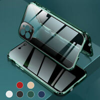 360°Magnetic Tempered Glass Case For iPhone 12 11 Pro Max Anti Spy Privacy Cover