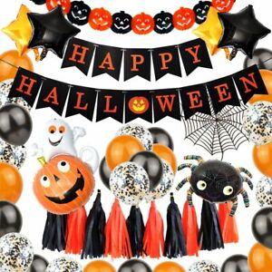 Luftballon Set Halloween Horror Party Feier Deko Dekoration Kürbis Spinne Figur