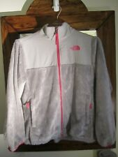 The North Face Soft Fleece Osito Furry Gray Hooded Jacket Size Girls XL
