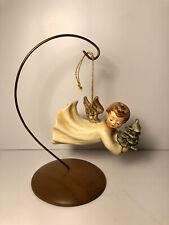 Goebel Hummel Flying High Angel 1St Edition 1988 Christmas Ornament With Base