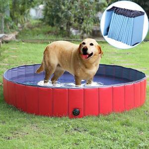 L/XL/XXL Foldable Dog Puppy Cat Swimming Bathing Tub Paddling Pool Kids Sand Pit