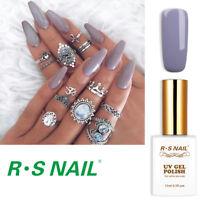 RS Nail Gel Nail Polish UV LED Soak Off Grey Colour Gel Nail Polish
