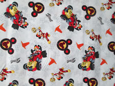 MICKEY MOUSE RACING RACE CAR COMIC BOOK COTTON FABRIC FQ