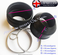 NEW ROYAL ENFIELD PAIR RUBBER FORK DUST COVER FREE  CLAMPS 170121