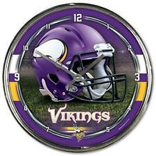 Nfl Minnesota Vikings Wall Clock Chrome Watch Football