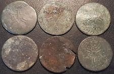 Louis XIV - lot de x6 6 deniers Dardennes en cuivre !