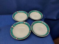 Vintage Gibson Royal Duchess Green Set/4 Soup/Cereal Bowls