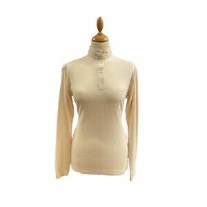 Ladies Large UK12/14 Equenox Brushed Cotton Hunt Shirt - Cream - WAS £34.57