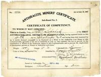 1913 Anthracite Coal Miner Certificate of Competency Carbondale Pennsylvania #3