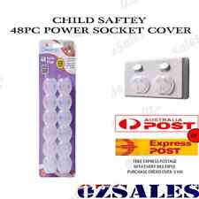 48x Baby Child Safety Power Board Covers Protective Socket Outlet Point Plug 2