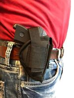 OWB GUN HOLSTER WITH MAGAZINE POUCH FOR RUGER LCP-380