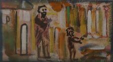 ERVIN NEUHAUS (1928-2012-Composition abstraite-Petit format-Abstraction-Religion