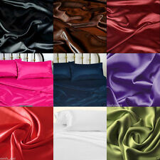1200 TC Satin Polyester Silk Scala Brand 1pc Fitted Sheet in US King/Queen/Twin