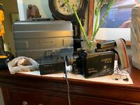 Vintage HITACHI VM-C50A 8mm VHS C Movie Video Camera Camcorder+Case+Charger RARE