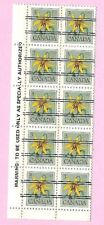 CANADA 1978 English Margin Block of 10 - 3c. FLOWER DEFINITIVE  Precancels MNH