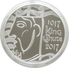 2017 Royal Mint King Canute UK £5 Five Pound Silver Proof Coin Box Coa