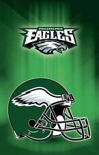 "Philadelphia Eagles NFL American Football Helmet USA Wall Art Poster 28"" x 18"""