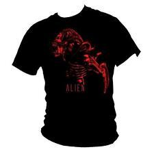 NARANJA Alien Película & Película Icono 100% Algodón Impresión Camiseta Hombre