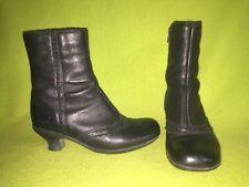 Black La Canadienne Zip-Up Ankle Boots 6.5