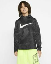 NEW Nike Boys Youth Therma Hoodie Gray Gunsmoke 86F681 G4T Size 4 Dri Fit $44