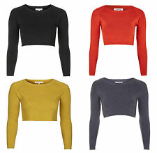 Crew Neck Cropped Thin Jumpers & Cardigans for Women