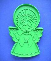 Hallmark COOKIE CUTTER Christmas Vintage ANGEL w HALO GREEN Medium Hard