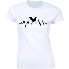 HeartBeats Chicken Rooster Lovers Shirt Funny Pulse Beating Women's Tee T-shirt