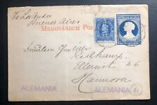 1902 Valparaiso Chile Letter Sheet Stationary Cover To Hannover Germany