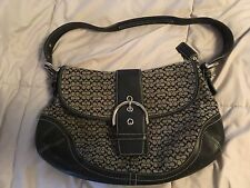 COACH BLACK AND BEIGE HANDBAG SMALL WITH BUCKLE SUPER CUTE